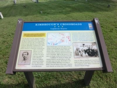 Kimbrough's Crossroads Marker image. Click for full size.