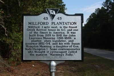 Millford Plantation Marker image. Click for full size.