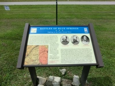 Battles of Blue Springs Marker image. Click for full size.