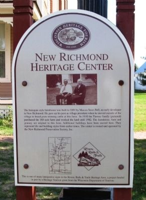 New Richmond Heritage Center Marker image. Click for full size.