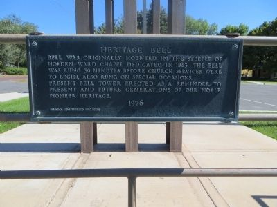 Heritage Bell Marker image. Click for full size.