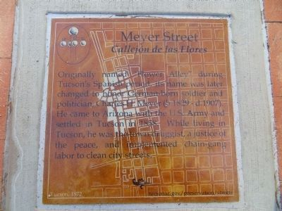 Meyer Street Marker image. Click for full size.