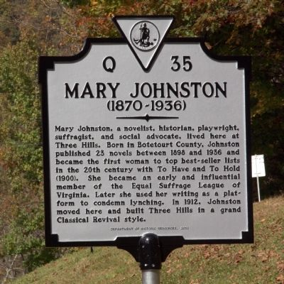 Mary Johnston Marker image. Click for full size.