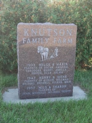 Nearby Knutson Family Farm Marker image. Click for full size.
