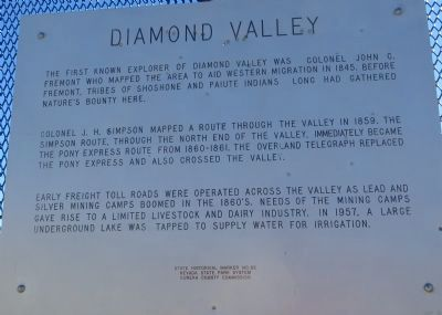 Diamond Valley Marker image. Click for full size.