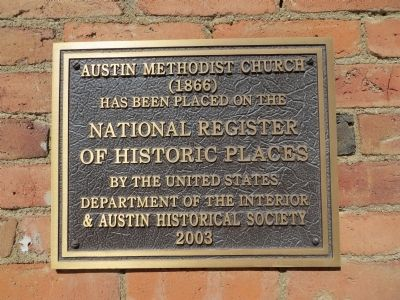 Austin Methodist Church Marker image. Click for full size.