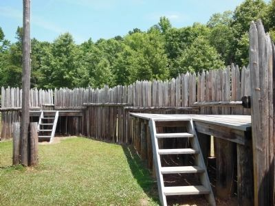 Fort Toulouse Stockade (inside) image. Click for full size.