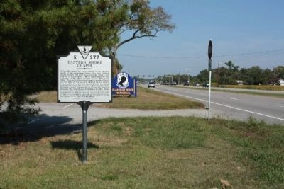 Eastern Shore Chapel Marker looking north along Oceana Boulevard image. Click for full size.