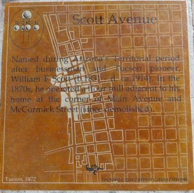 Scott Avenue Marker image. Click for full size.