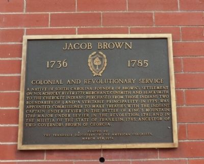 Jacob Brown Marker image. Click for full size.