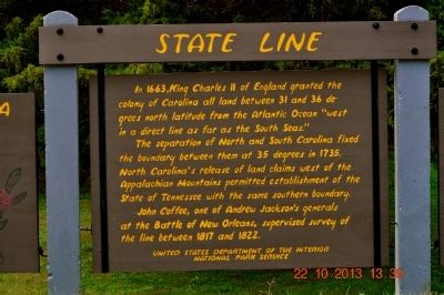 State Line Marker image. Click for full size.