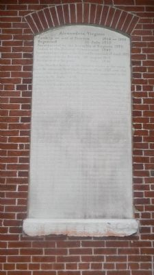 The orignial Alexandria, Virginia Marker (worn and weathered) image. Click for full size.