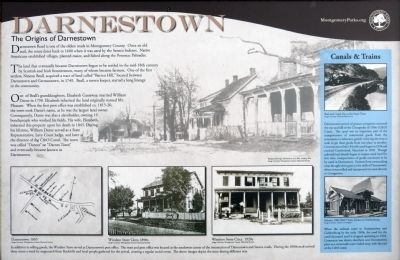 The Origins of Darnestown Marker image. Click for full size.
