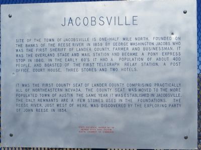 Jacobsville Marker image. Click for full size.