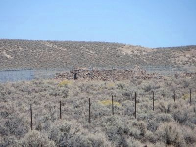 To the north are the ruins of a telegraph repeater and maintenance station image. Click for full size.