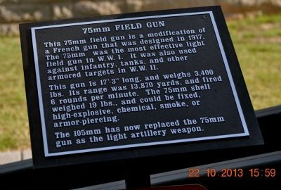 75mm Field Gun Marker image. Click for full size.