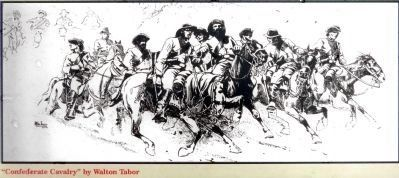 """Confederate Cavalry""<br>By Walton Tabor image. Click for full size."