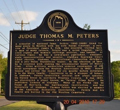 Judge Thomas M. Peters Marker image. Click for full size.