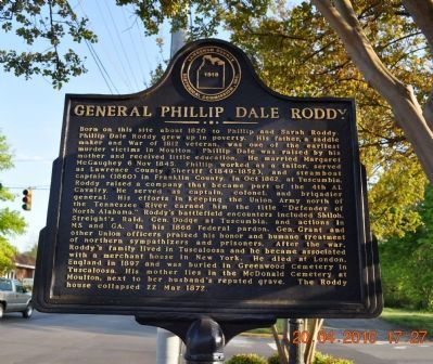 General Phillip Dale Roddy Marker image. Click for full size.