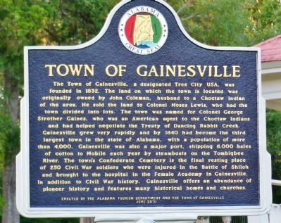 Town of Gainesville marker image. Click for full size.