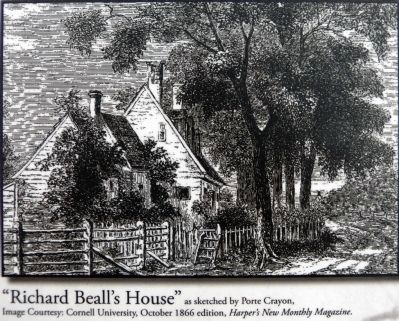 """Richard Beall&#39;s House""<br>as sketched by Porte Crayon<br>(David Hunter Strother) image. Click for full size."