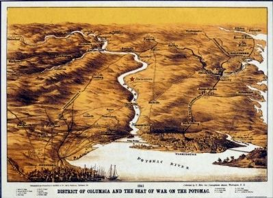 District of Columbia and the Seat of War on the Potomac image. Click for full size.