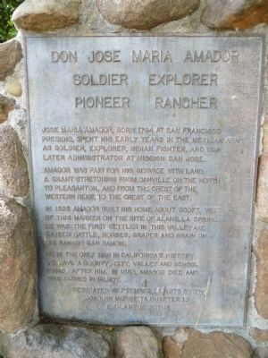 Don Jose Maria Amador Marker image. Click for full size.