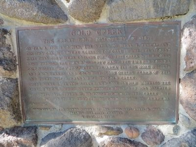 Gold Creek Marker image. Click for full size.