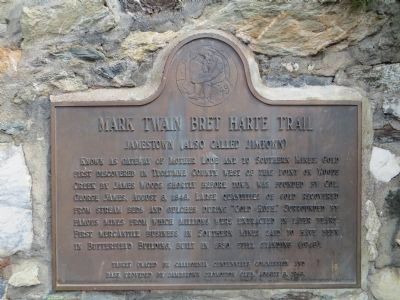 Mark Twain Bret Harte Trail Marker image. Click for full size.
