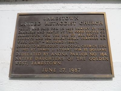Jamestown United Methodist Church Marker image. Click for full size.