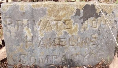 Private John Haneline, Company E. image. Click for full size.