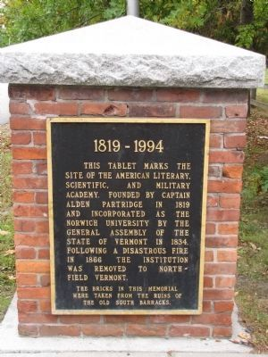 American Literary, Scientific, and Military Academy Marker image. Click for full size.