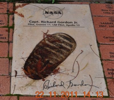 Footprint & Signature of Capt Richard Gordon Jr image. Click for full size.