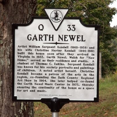 Garth Newel Marker image. Click for full size.