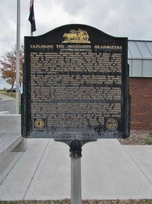 Exploring The Mississippi Headwaters Marker image. Click for full size.