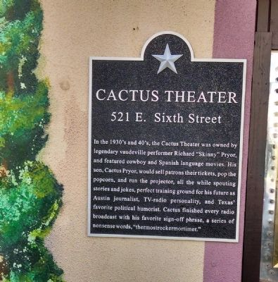 Cactus Theater Marker image. Click for full size.