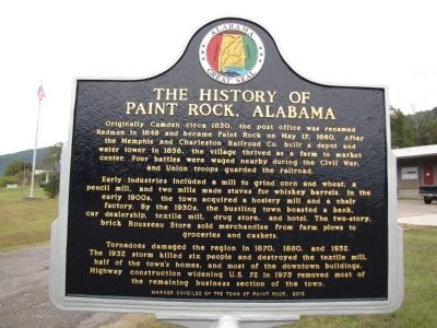 The History of Paint Rock, Alabama Marker image. Click for full size.