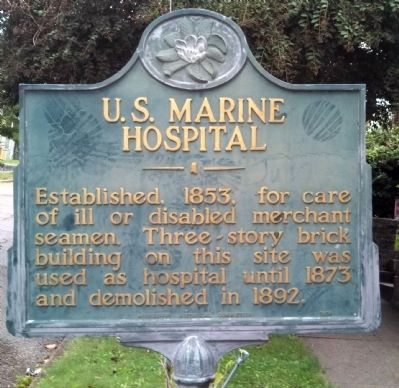 U.S. Marine Hospital Marker image. Click for full size.