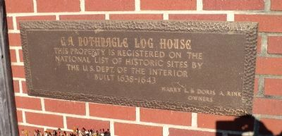 C. A. Nothnagle Log House Marker image. Click for full size.
