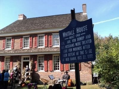 Whitall House Marker image. Click for full size.