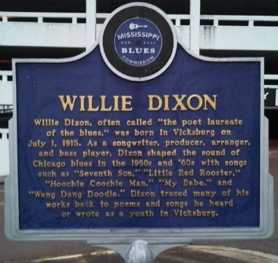Willie Dixon Marker (front) image. Click for full size.