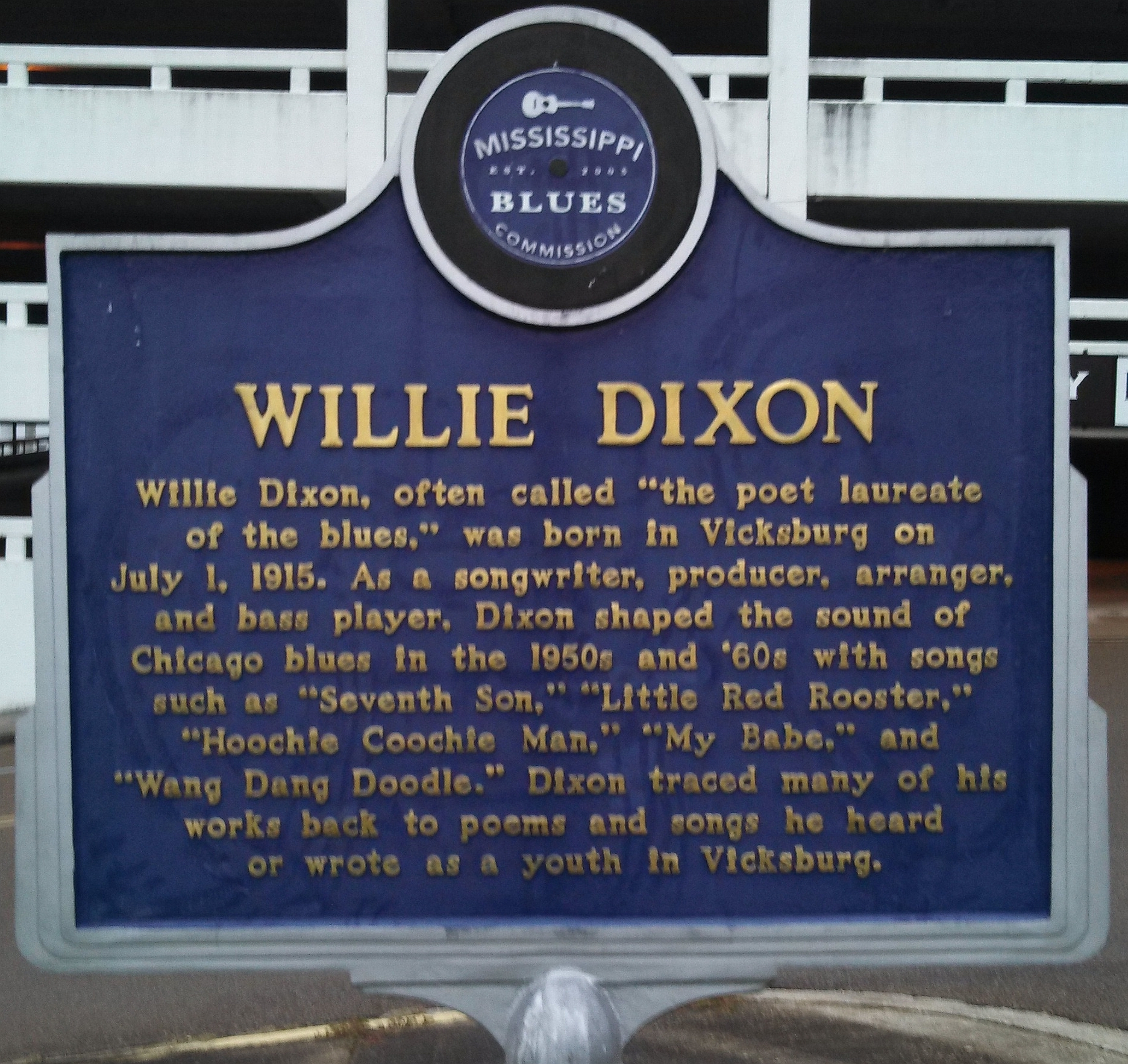 Willie Dixon Marker (front)