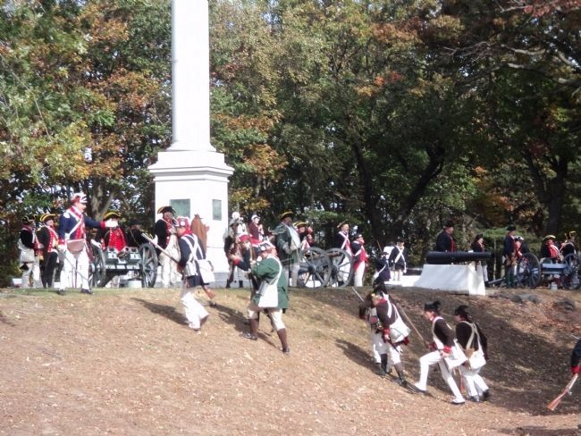American Troops at the Colonel Christopher Greene Monument image. Click for full size.