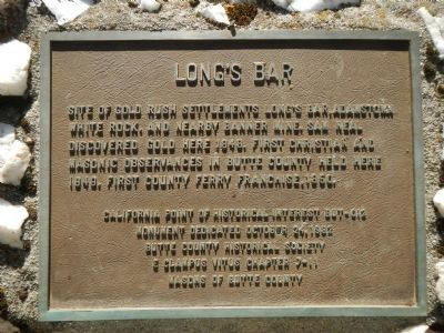 Long's Bar Marker image. Click for full size.