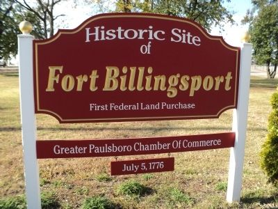 Fort Billingsport Marker image. Click for full size.