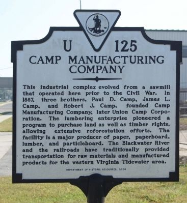 Camp Manufacturing Company Marker image. Click for full size.
