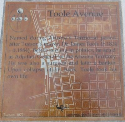 Toole Avenue Marker image. Click for full size.