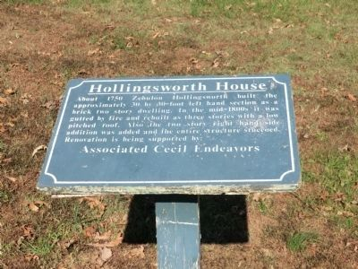 Hollingsworth House Marker image. Click for full size.