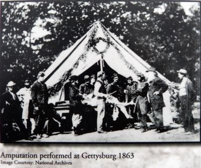 Amputation performed at Gettyburg 1863 image. Click for full size.