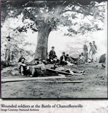 Wounded Soldiers at the Battle of Chancellorsville image. Click for full size.